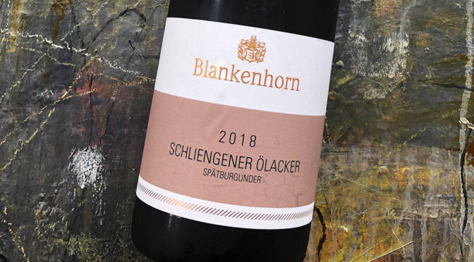 2018 Weingut Blankenhorn, Schliengener Ölacker Pinot Noir 1G, Baden, Tyskland