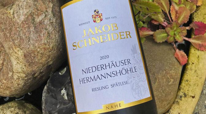 2020 Weingut Jakob Schneider, Niederhäuser Hermannshöhle Riesling Spätlese, Nahe, Tyskland