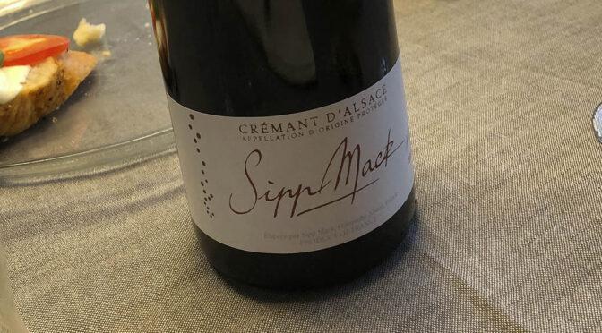 2019 Domaine Sipp Mack, Cremant d'Alsace Vintage Brut, Alsace, Frankrig