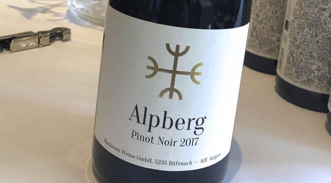 2017 Hauksson Weine, Alpberg Pinot Noir, Aargau, Schweiz